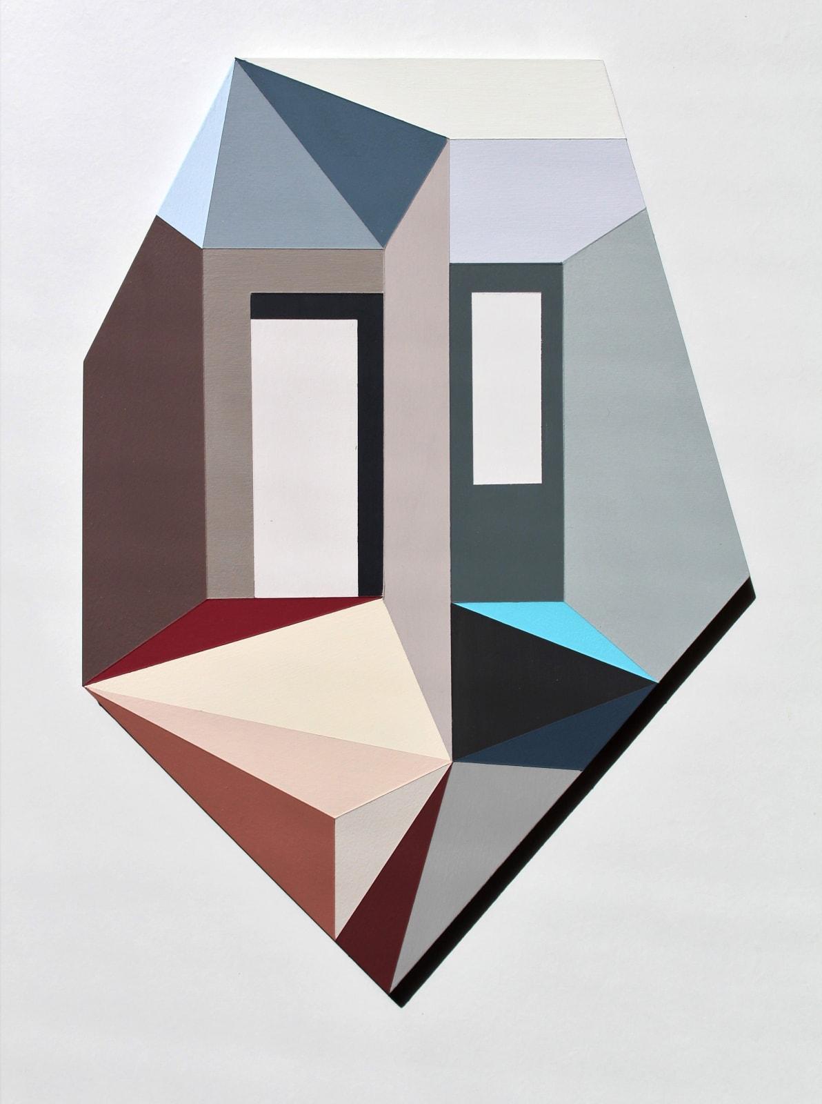 Megan Burns, Altered space 0.18, emulsion on board, 43 x 30 cm