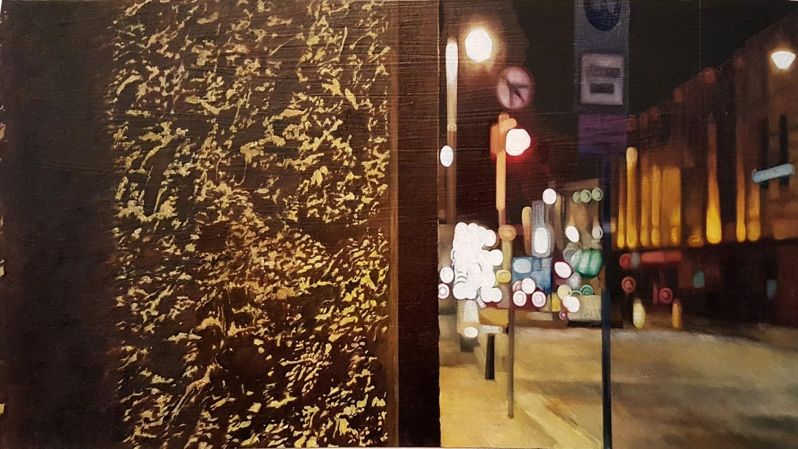 Francis Matthews,  Camden Street Upper  oil on board,  30 x 60 cm