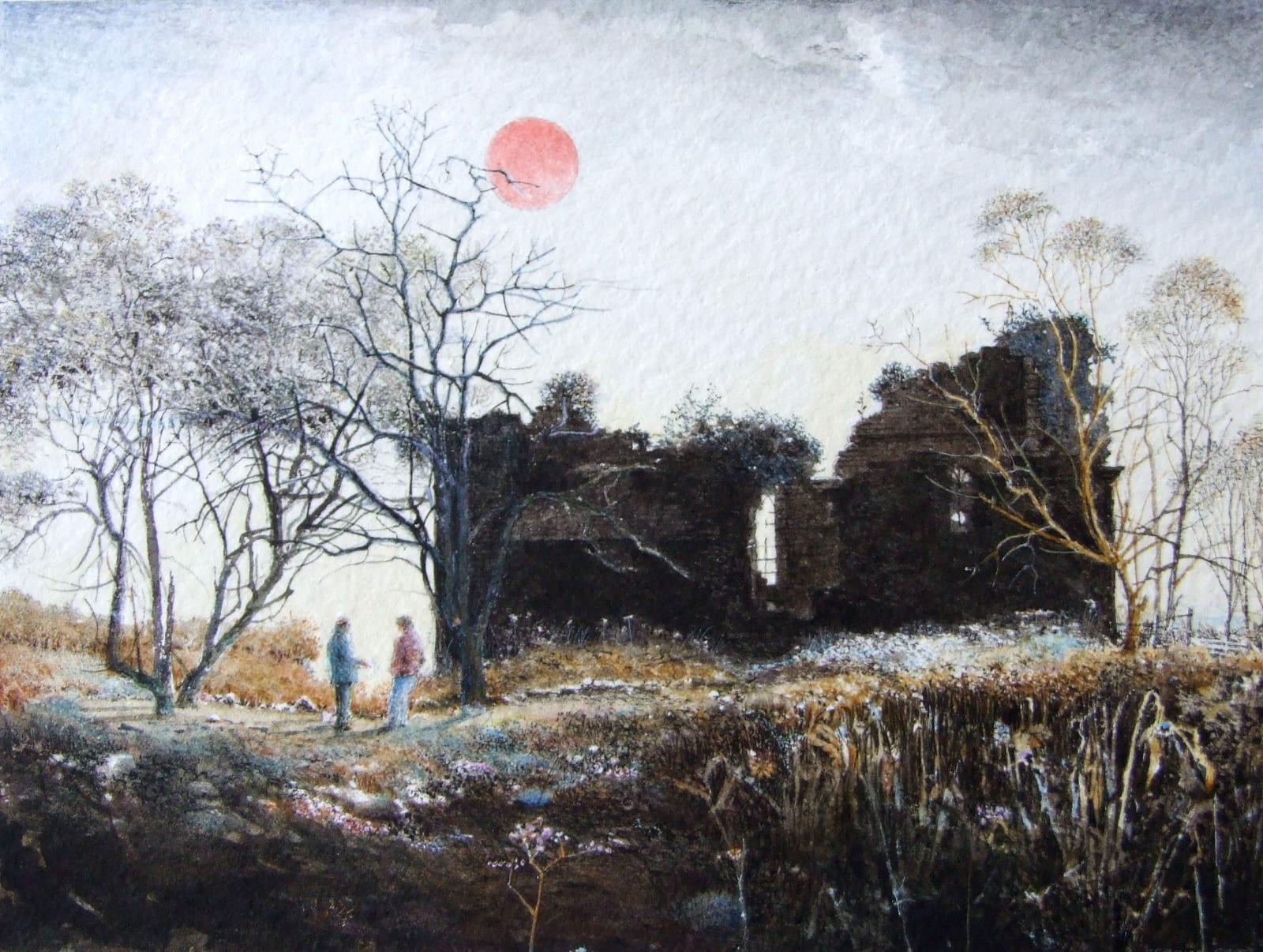 Robert Bates December Afternoon (2007) Watercolour 10.6 x 14.1 cm