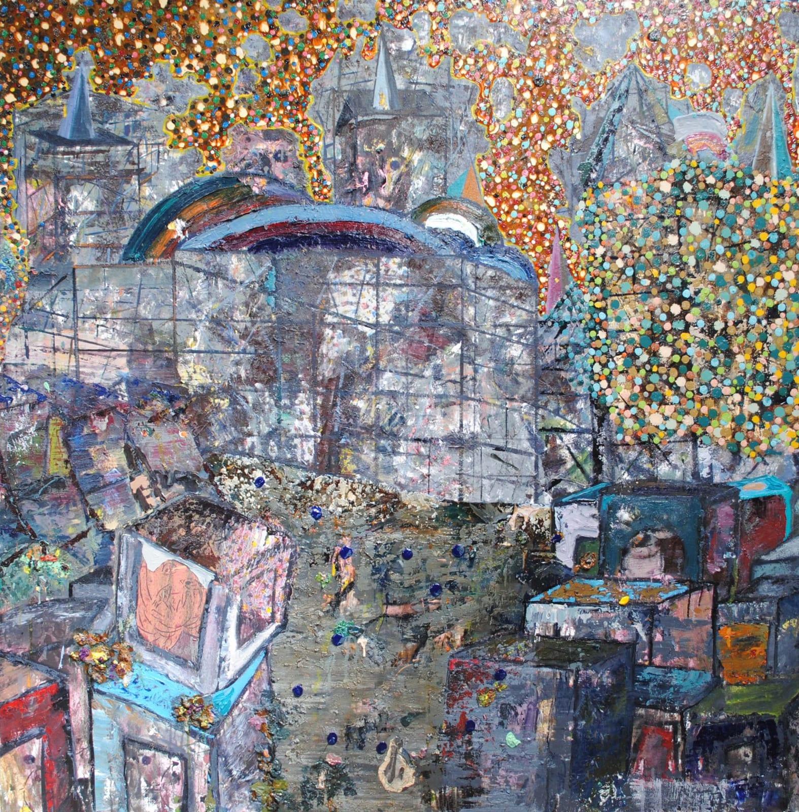 Thomas Brezing One man's toxic waste is another man's potpourri Oil on canvas 150 x 150cm