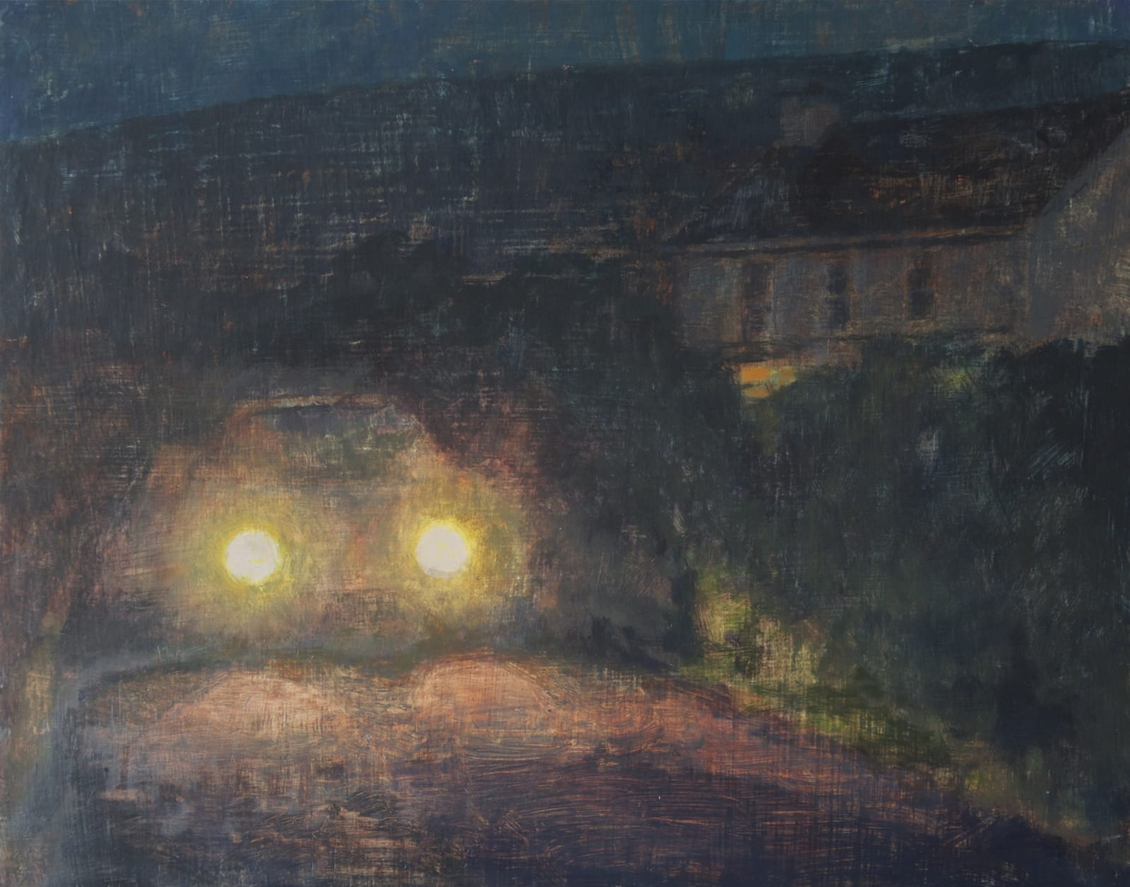 Maeve McCarthy Headlights Tempera and oil on gesso panel 25 x 30 cm