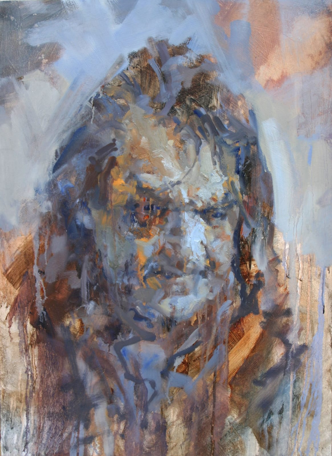 Cian McLoughlin Johnny 'Pops' Connors III Oil on board 74 x 53 cm