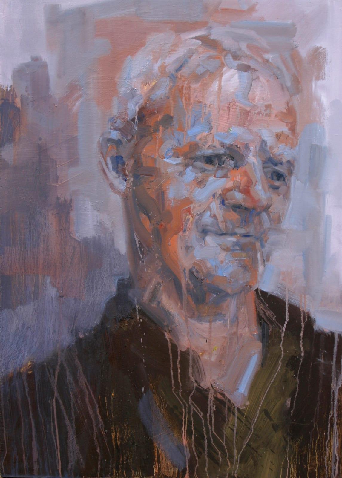 Cian McLoughlin Peter Doyle I Oil on board 73 x 53 cm