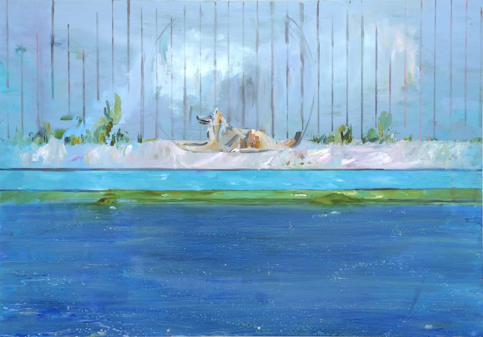 Gabhann Dunne Mosney Oil on gesso panel 70 x 100 cm