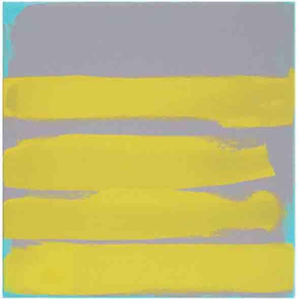 Bridget O'Rourke Yellow on green Oil on canvas 30 x 30 cm