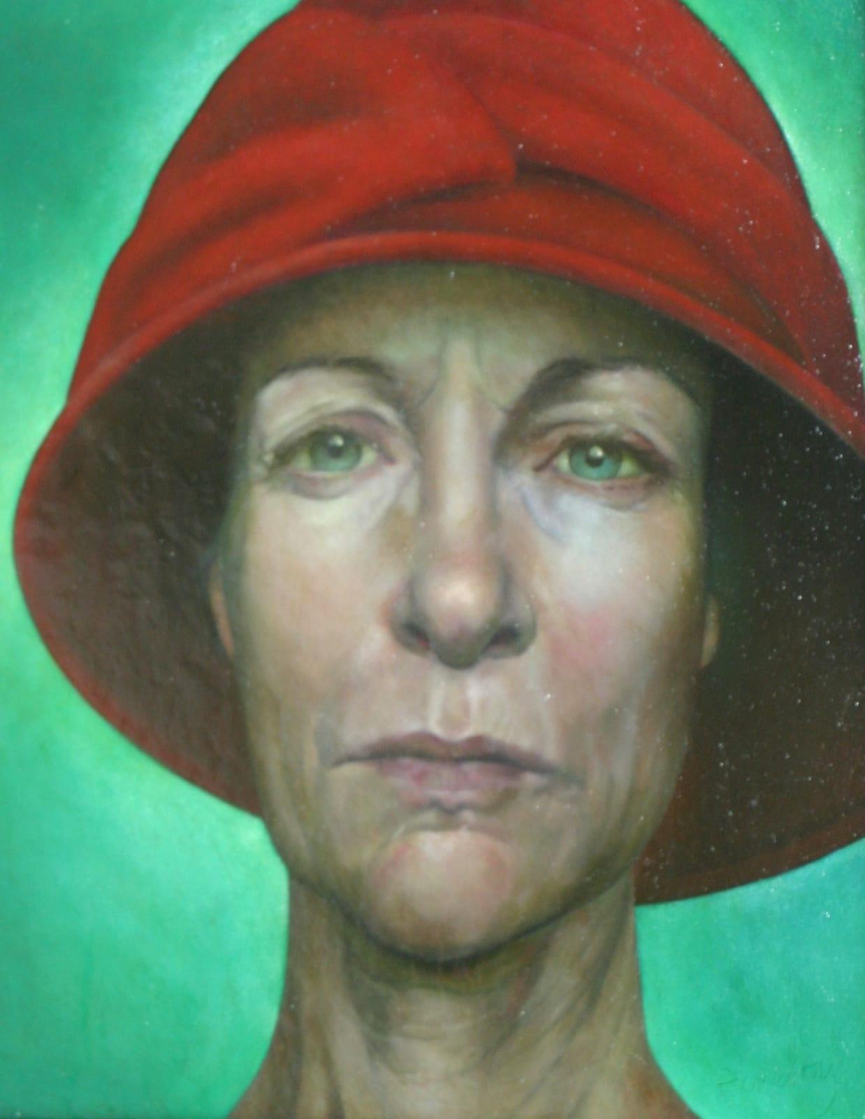 Sheila Pomeroy Eaving Hat Oil on panel 22 x 28 cm