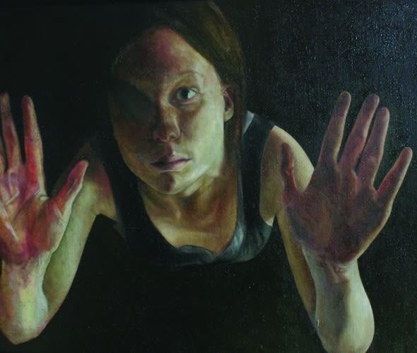 Sheila Pomeroy Oubliette Oil on panel 128 x 102 cm