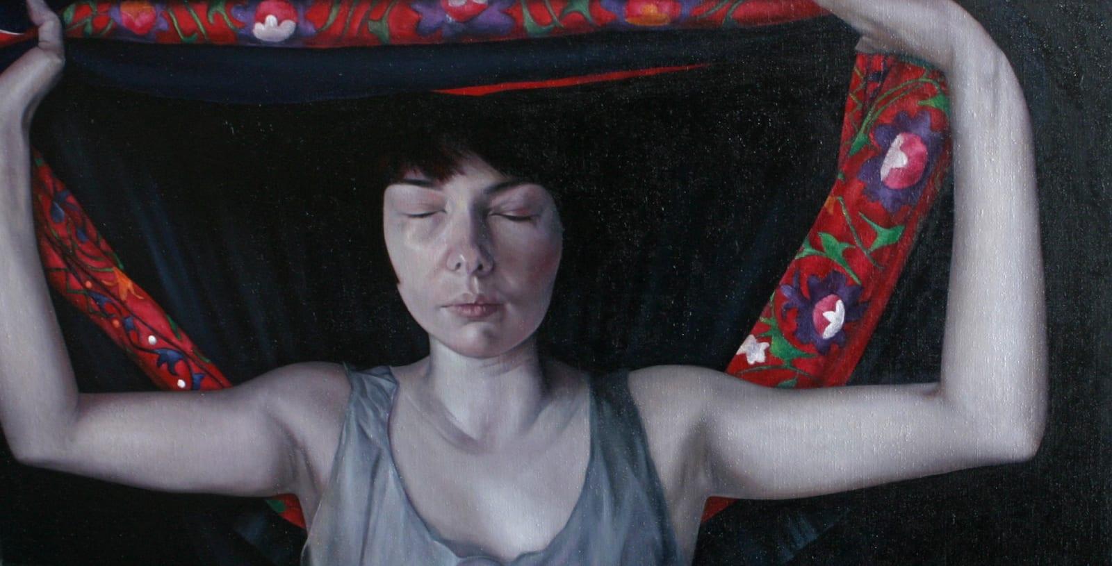 Sheila Pomeroy Caul Oil on panel 88 x 170 cm