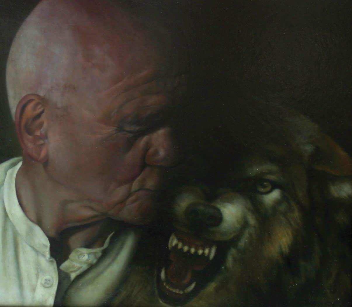 Sheila Pomeroy Shadow Kiss Oil on panel 43 x 54 cm