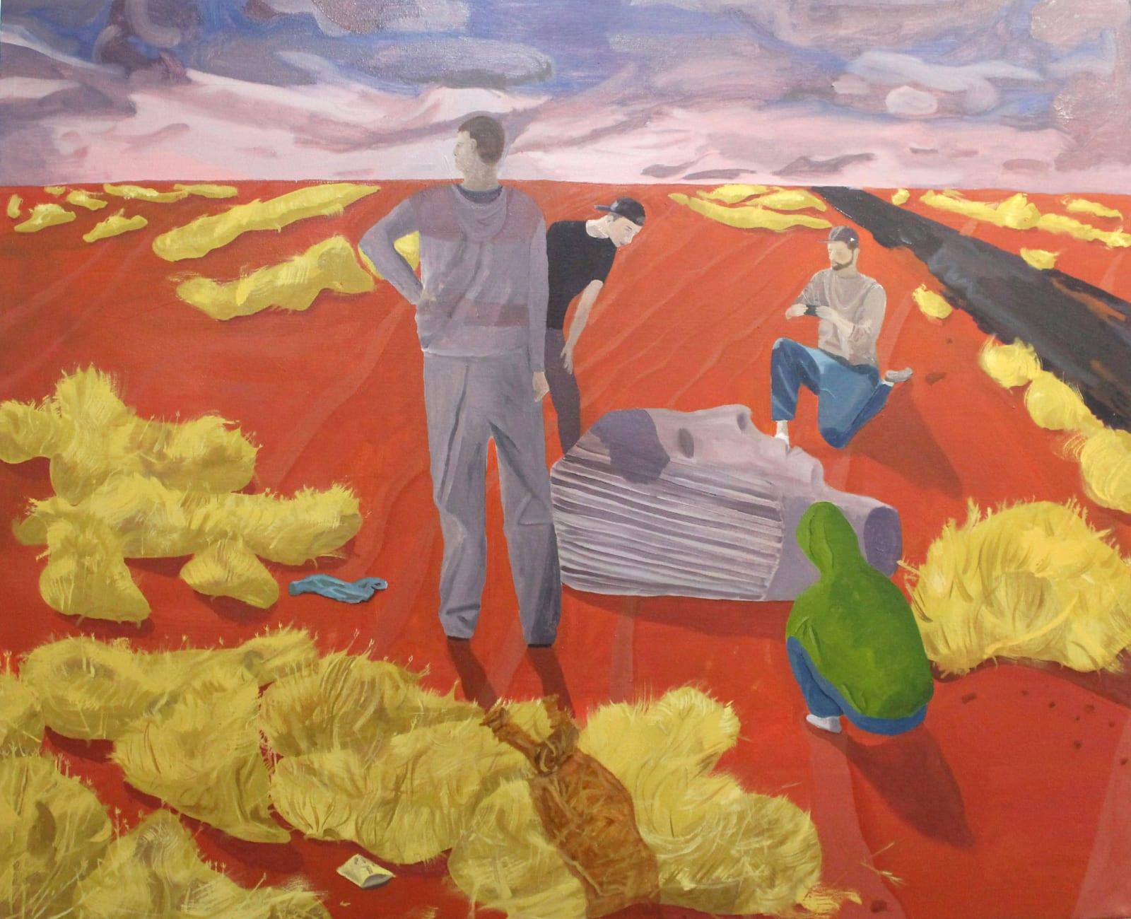 Oscar Fouz Lopez Lost plains Oil on canvas 100 x 120 cm