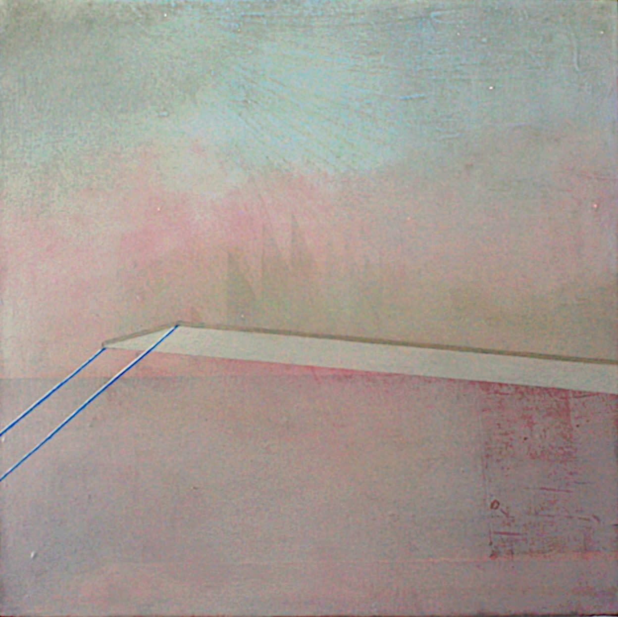 Gillian Lawler Platform III Oil on canvas 40 x 40 cm