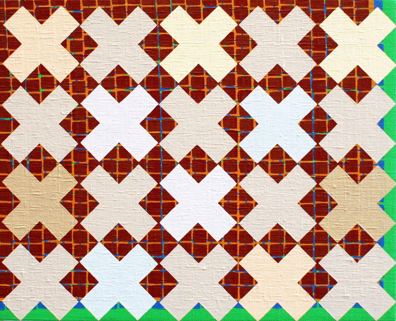 Helen Blake Blanket Oil on linen, laid on board 26 x 32 cm