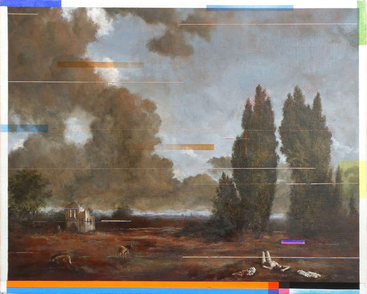 Sean Molloy Freiwild Oil on canvas 24 x 30 cm