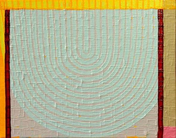 Helen Blake Folded neatly Oil on linen 20.5 x 25.5cm