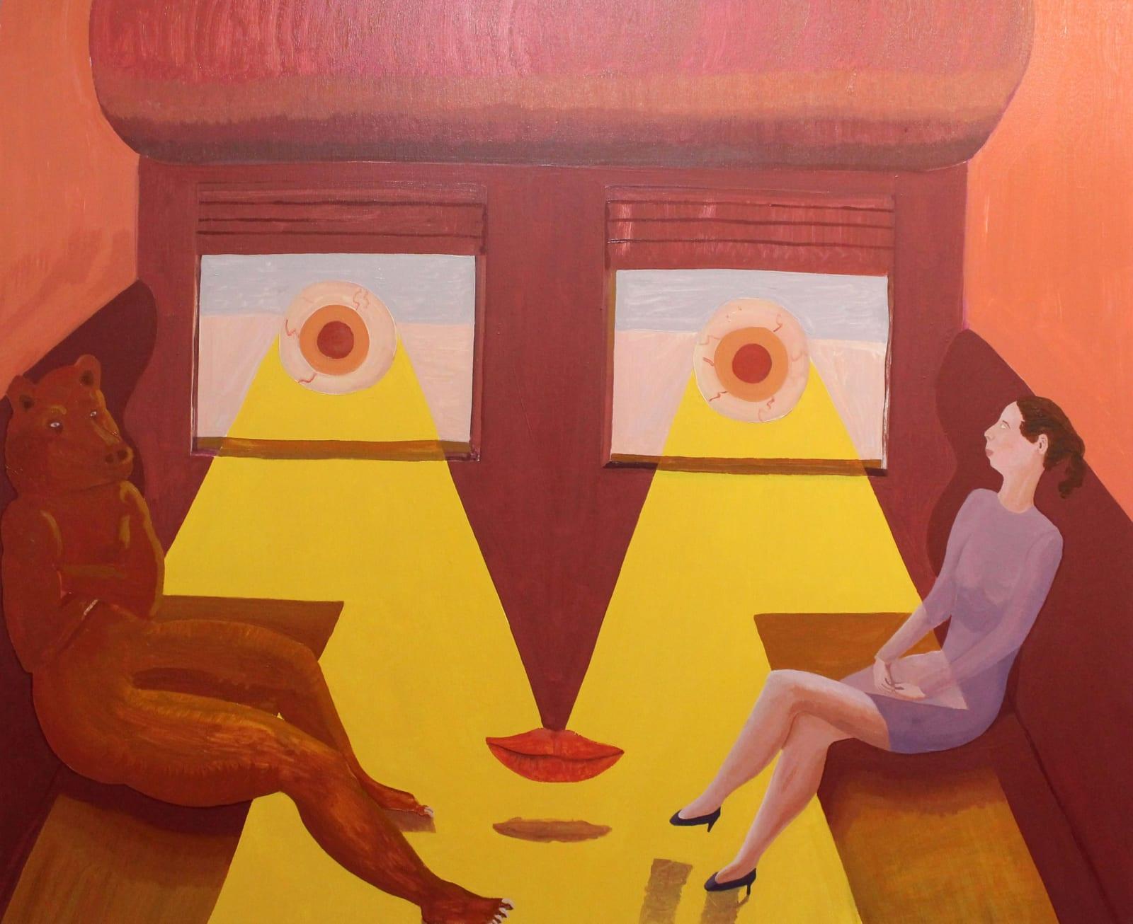 Oscar Fouz Lopez Don't look back, baby Oil on canvas 100 x 120 cm