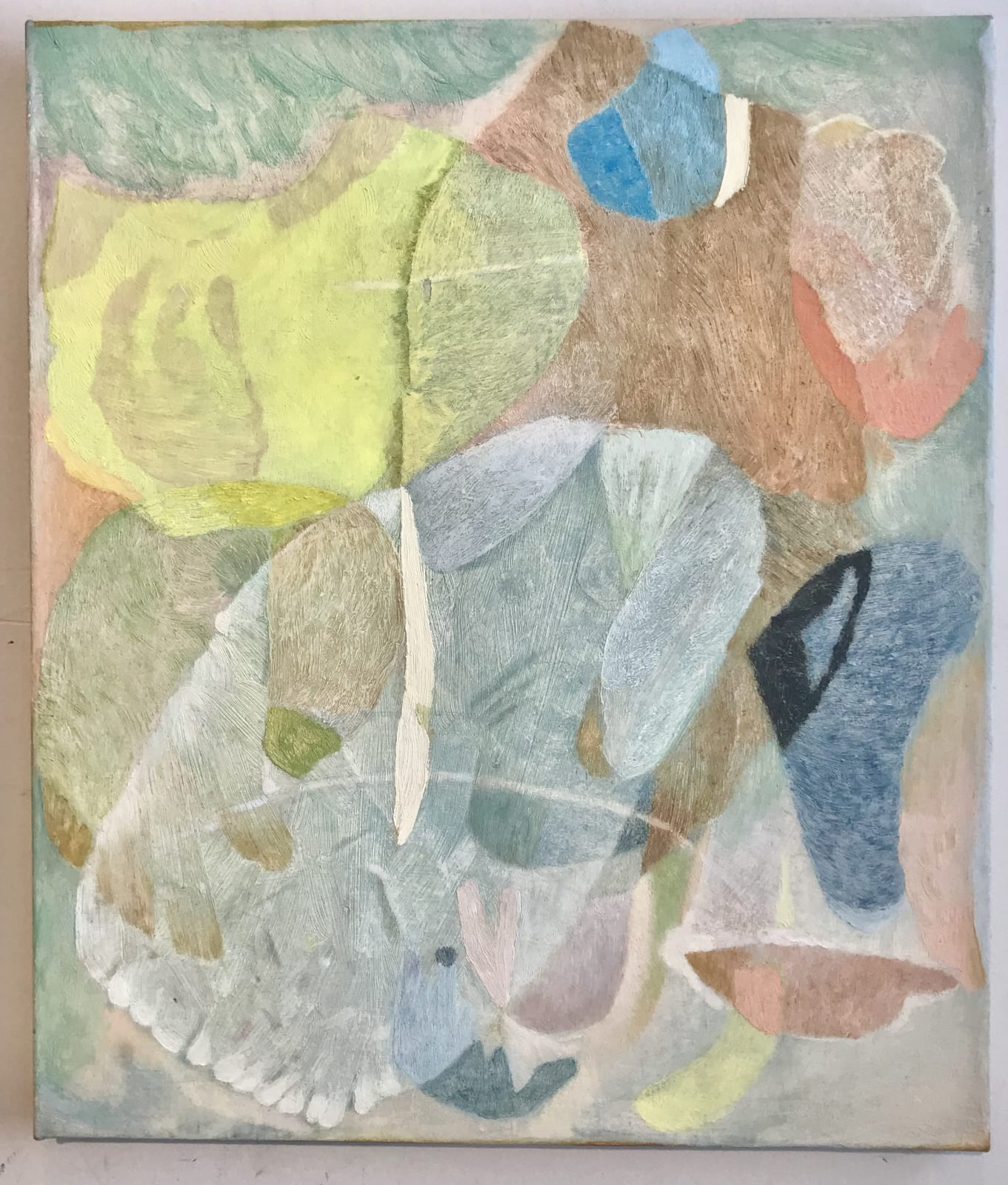 """Clare Grill Leaves, 2019 oil on linen 20"""" x 17"""""""