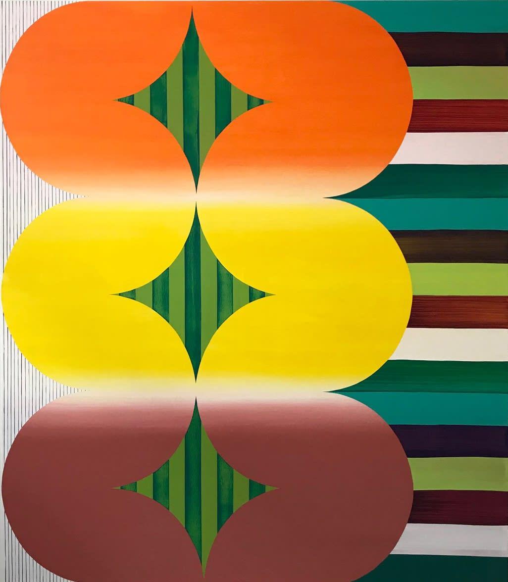 """Shirley Kaneda Summer Cold, 2019 acrylic on canvas 72"""" x 63"""""""