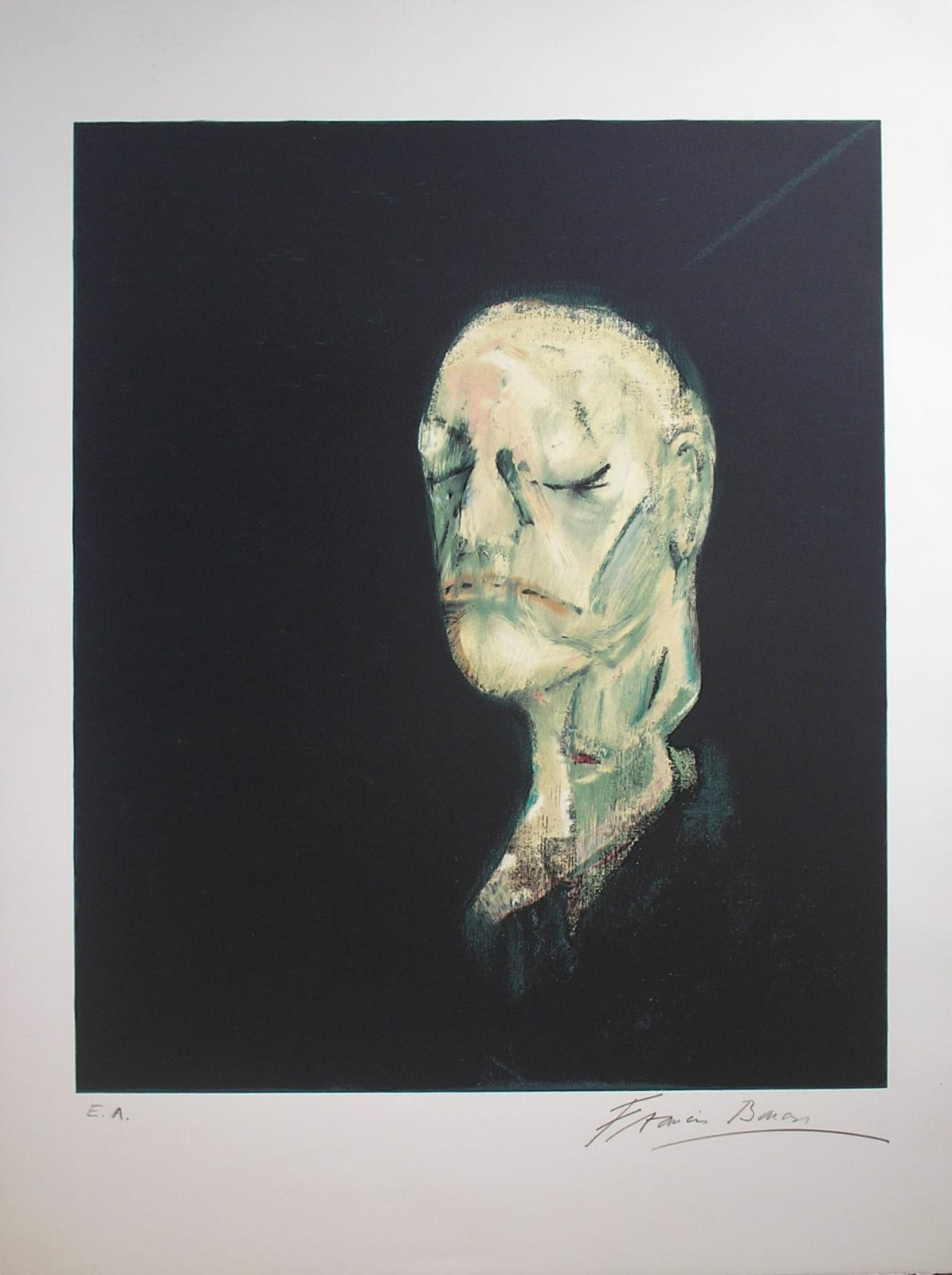 Study after a lifemask of William Blake