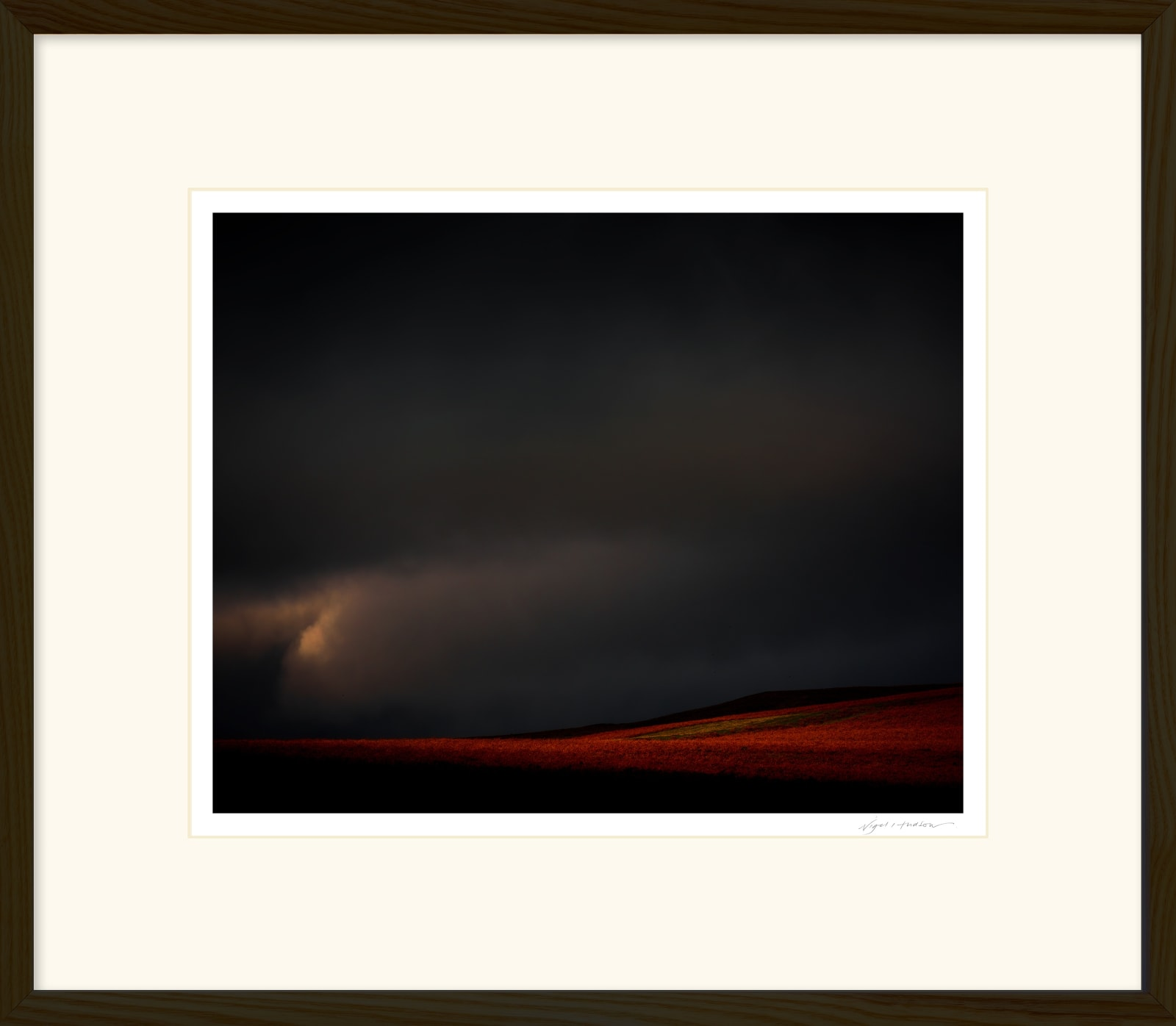 'CROSS LIGHT' Archival Pigment Print on Platinum Etching Fine Art Paper. Framed in an Oiled Walnut Cushion Frame and protected with crystal clear Water White Glass. Available in an edition of 3 in three sizes. Prices from £245.00 including first class courier delivery within five working days.