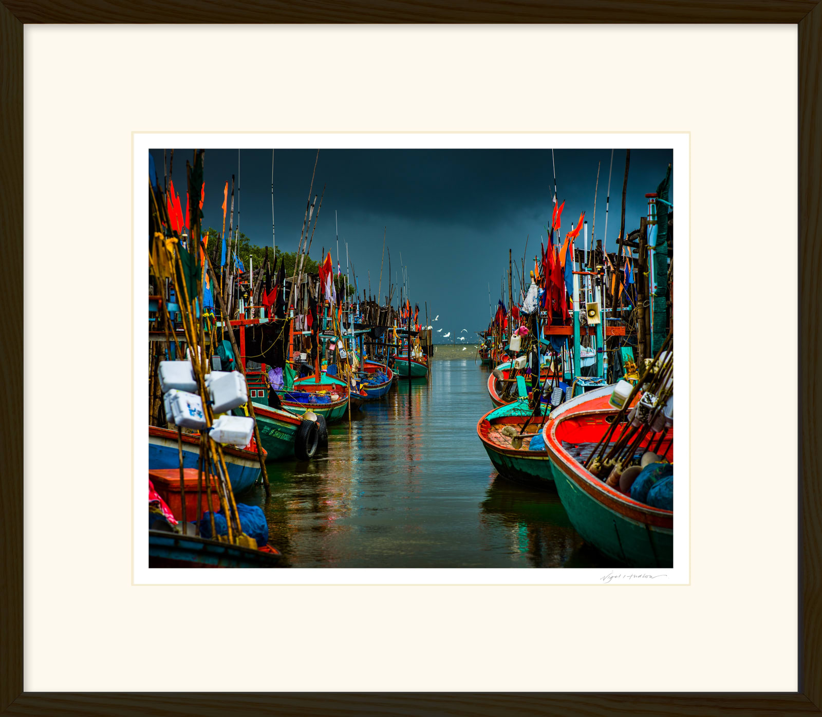'ON THE ROAD TO HUA HIN' Archival Pigment Print on Platinum Etching Fine Art Paper. Framed in an Oiled Walnut Cushion Frame and protected with crystal clear Water White Glass. Available in an edition of 3 in three sizes. Prices from £245.00 including first class courier delivery within five working days.