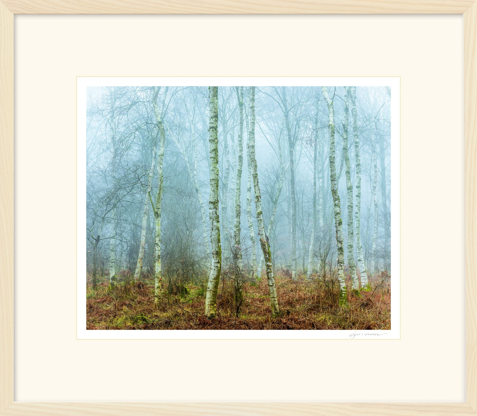 'THIN MEN IN THE MIST' 16 x 20 inch print within a 22 x 26 inch Frame Printed on Platinum Etching Fine Art Archival Paper Matted and framed in a 2 cm limed Ash Cushion Frame under water white glass Signed and Editioned with a Certificate of Authenticity Available in three sizes ... Ready to Hang Prices from £275.00 Price includes delivery by DPD Courier to your front door