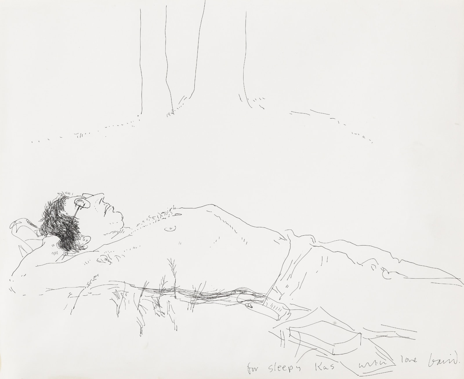 For Sleepy Kas, 1967, © David Hockney PRIVATE COLLECTION