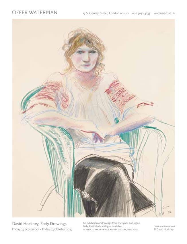 Celia, 1972, © David Hockney