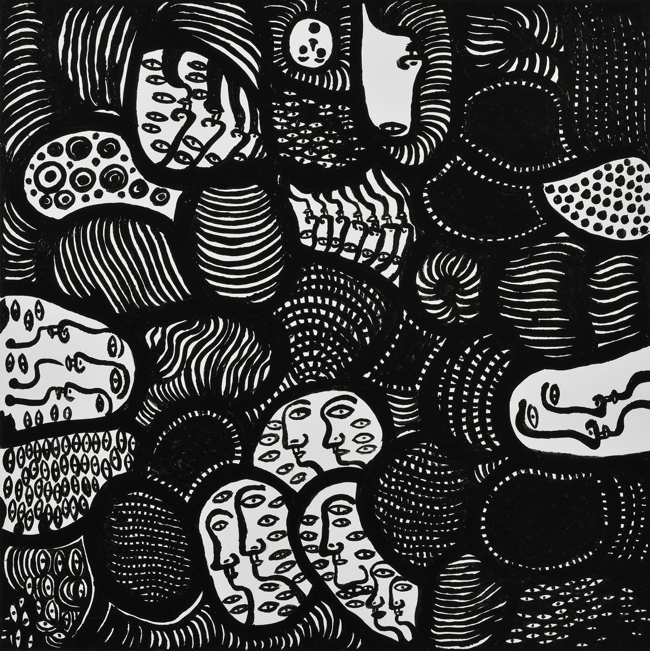 YAYOI KUSAMA YOUTH HAS ARRIVED, 2019 Acrylic on canvas 100 x 100 cm