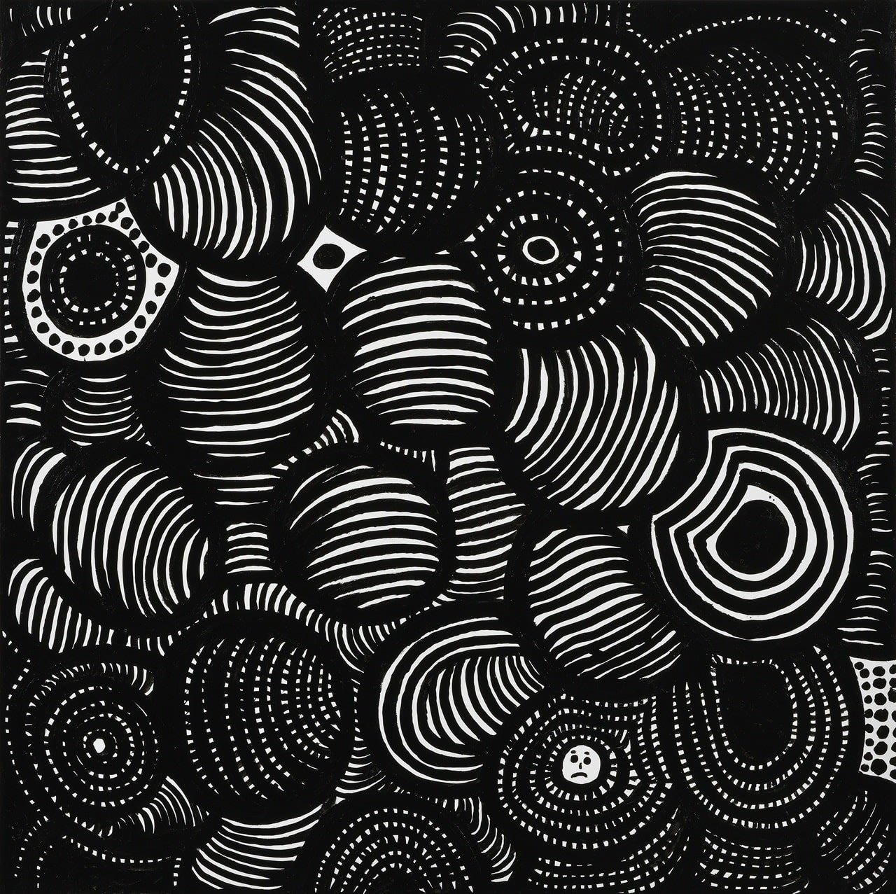 YAYOI KUSAMA I WANT TO TALK ABOUT EVERYTHING IN THE UNIVERSE, 2020 Acrylic on canvas 100 x 100 cm