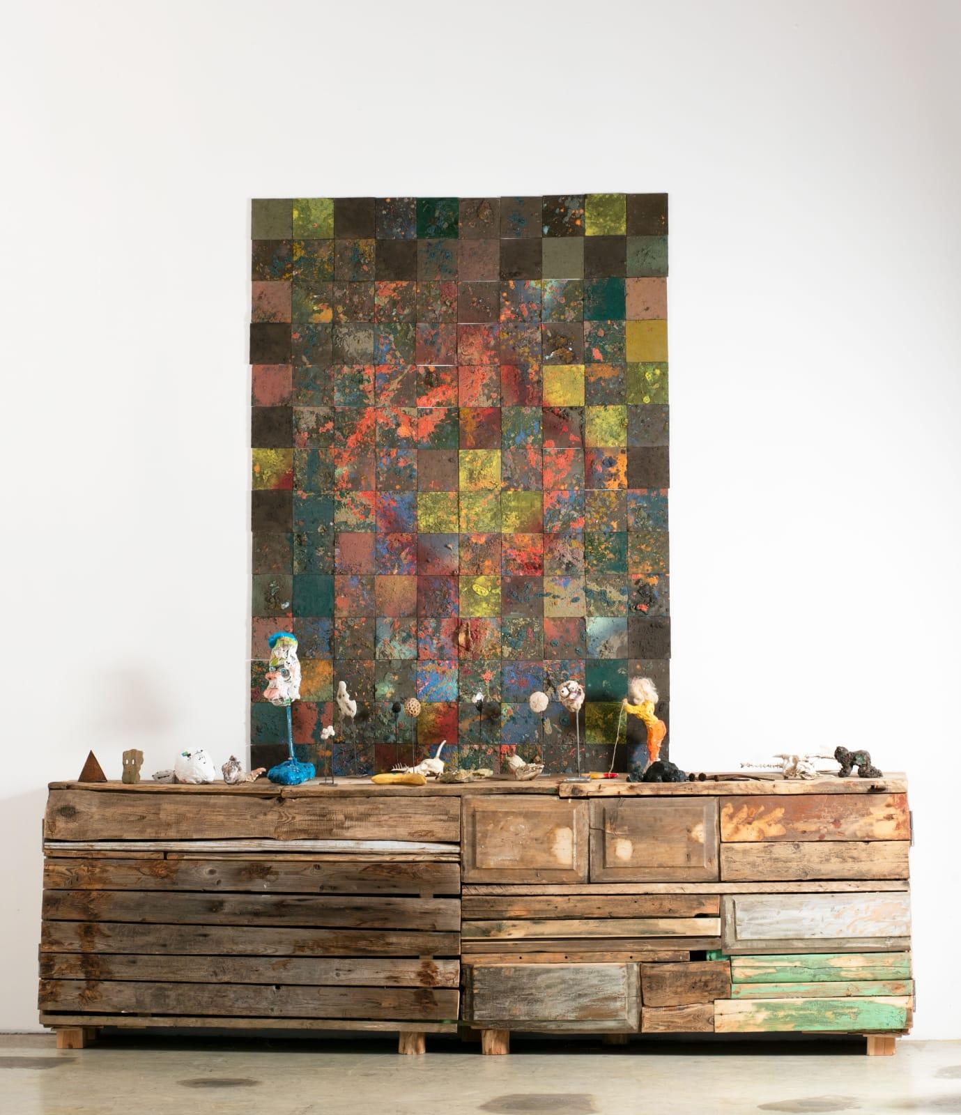 ALEXANDER TSIKARISHVILI, IVAN CHEMAKIN Carpet over the dresser, 2018