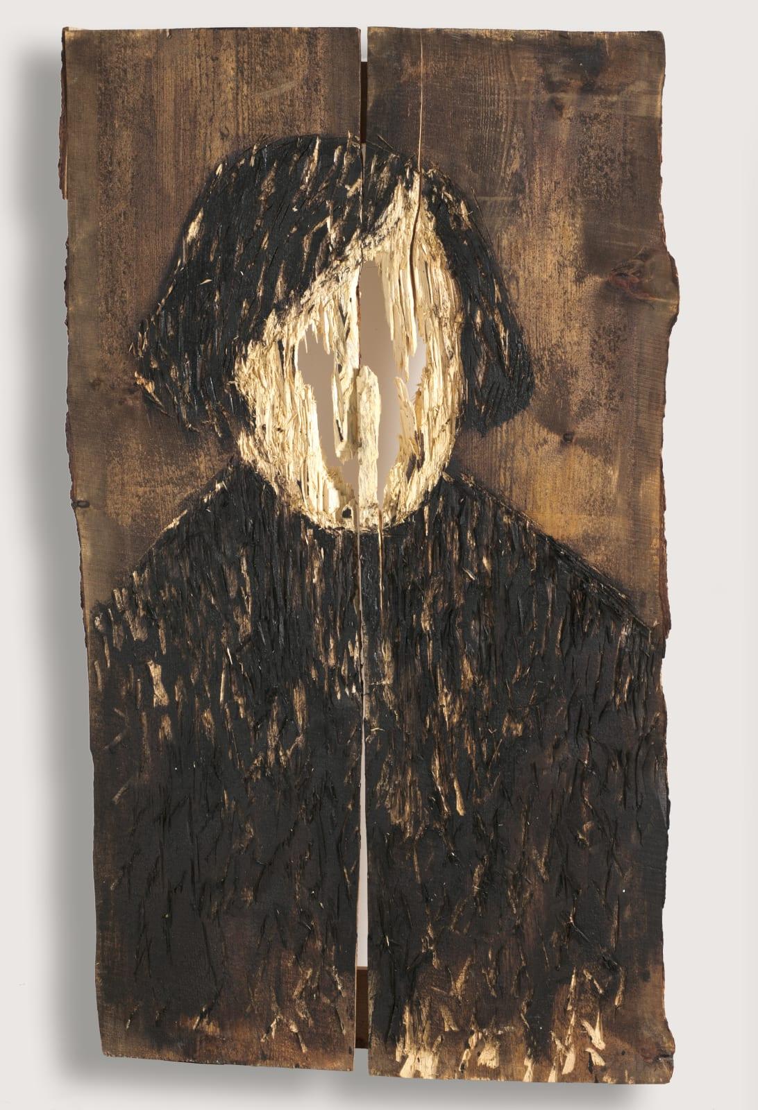 Nestor Engelke Wooden portrait of Nikolay Gogol from the series