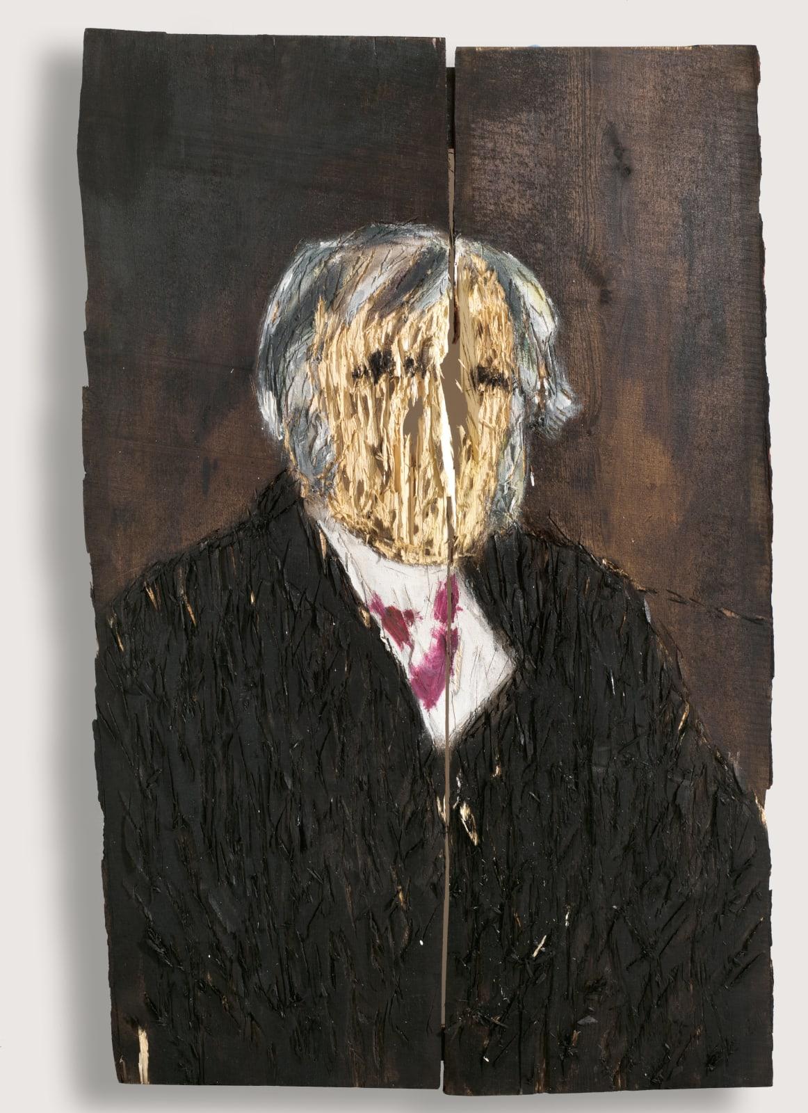 Nestor Engelke Wooden portrait of Ivan Krylov from the series
