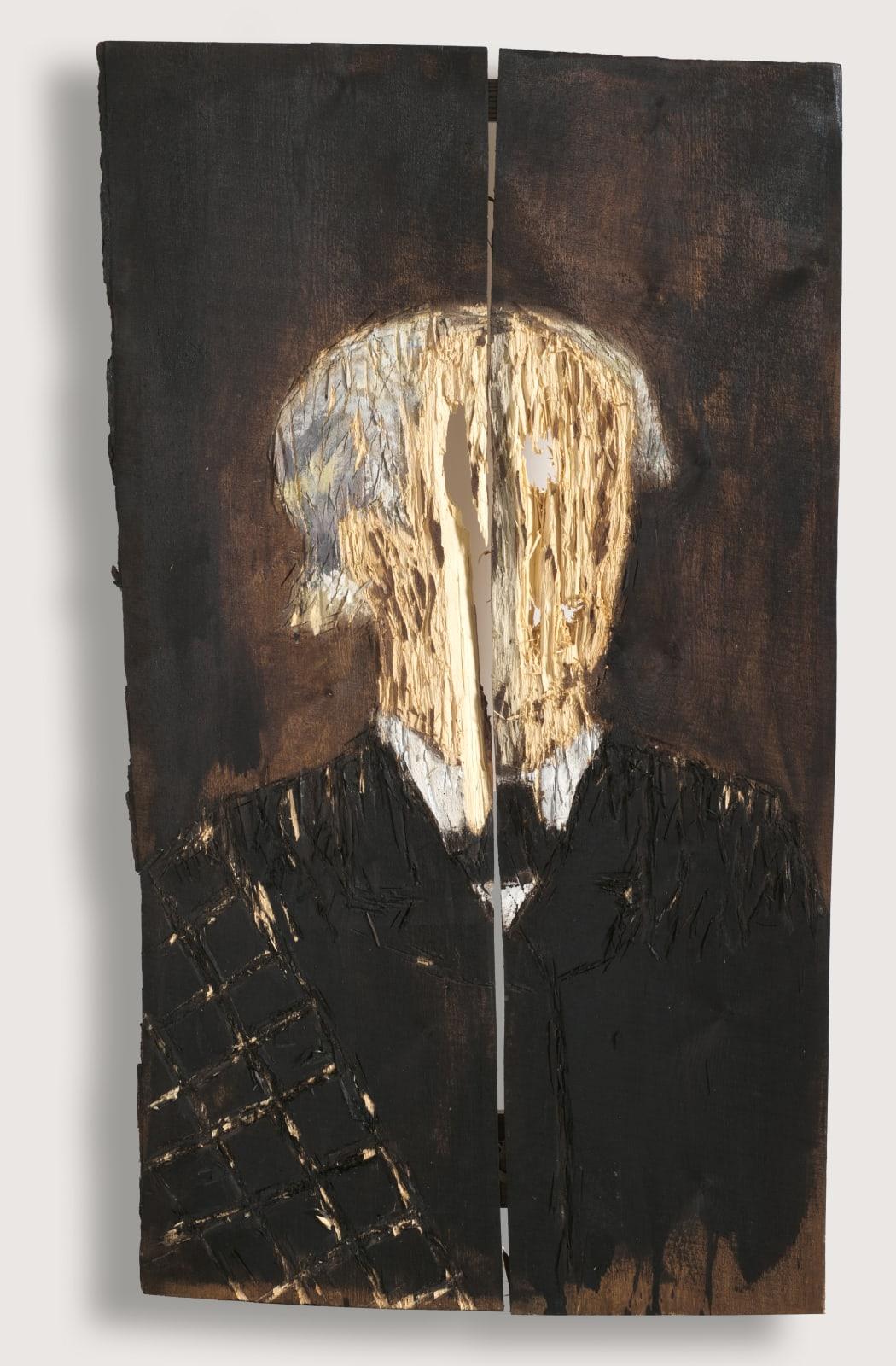 Nestor Engelke Wooden portrait of Fedor Tyutchev from the series