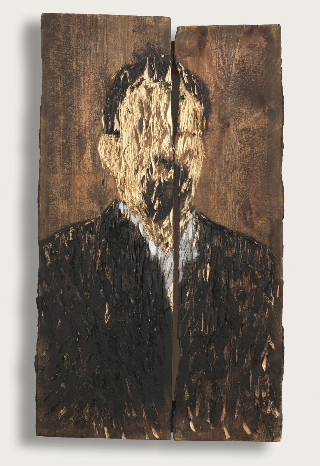 Nestor Engelke Wooden portrait of Anton Chehov from the series