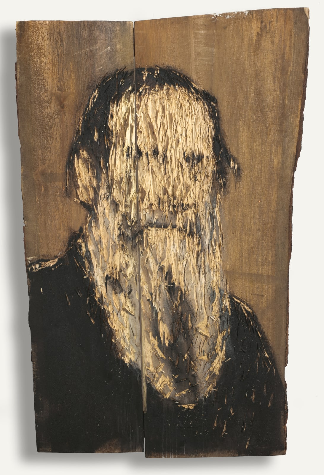 Nestor Engelke Wooden portrait of Lev Tolstoy from the series