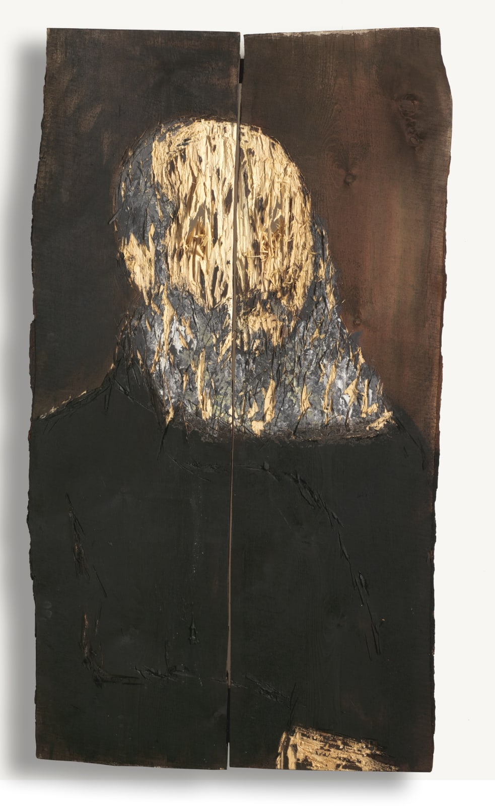 Nestor Engelke Wooden portrait of Afanasy Fet from the series