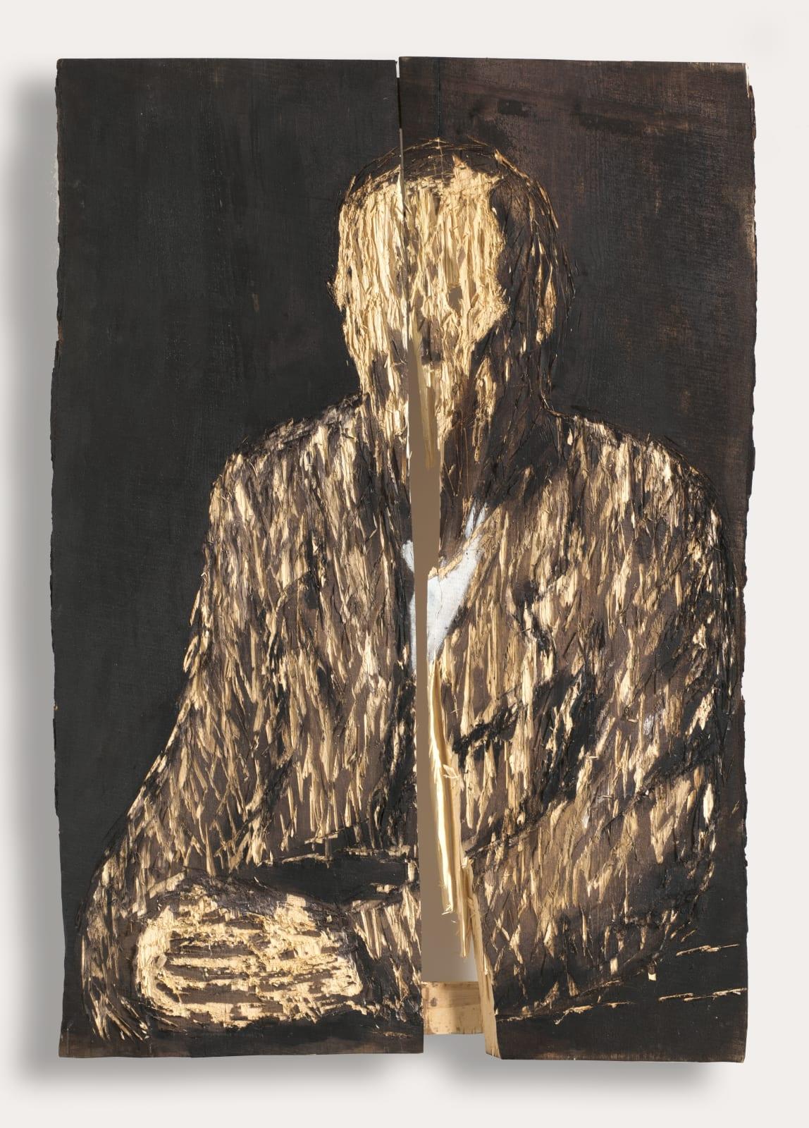 Nestor Engelke Wooden portrait of Fedor Dostoevsky from the series