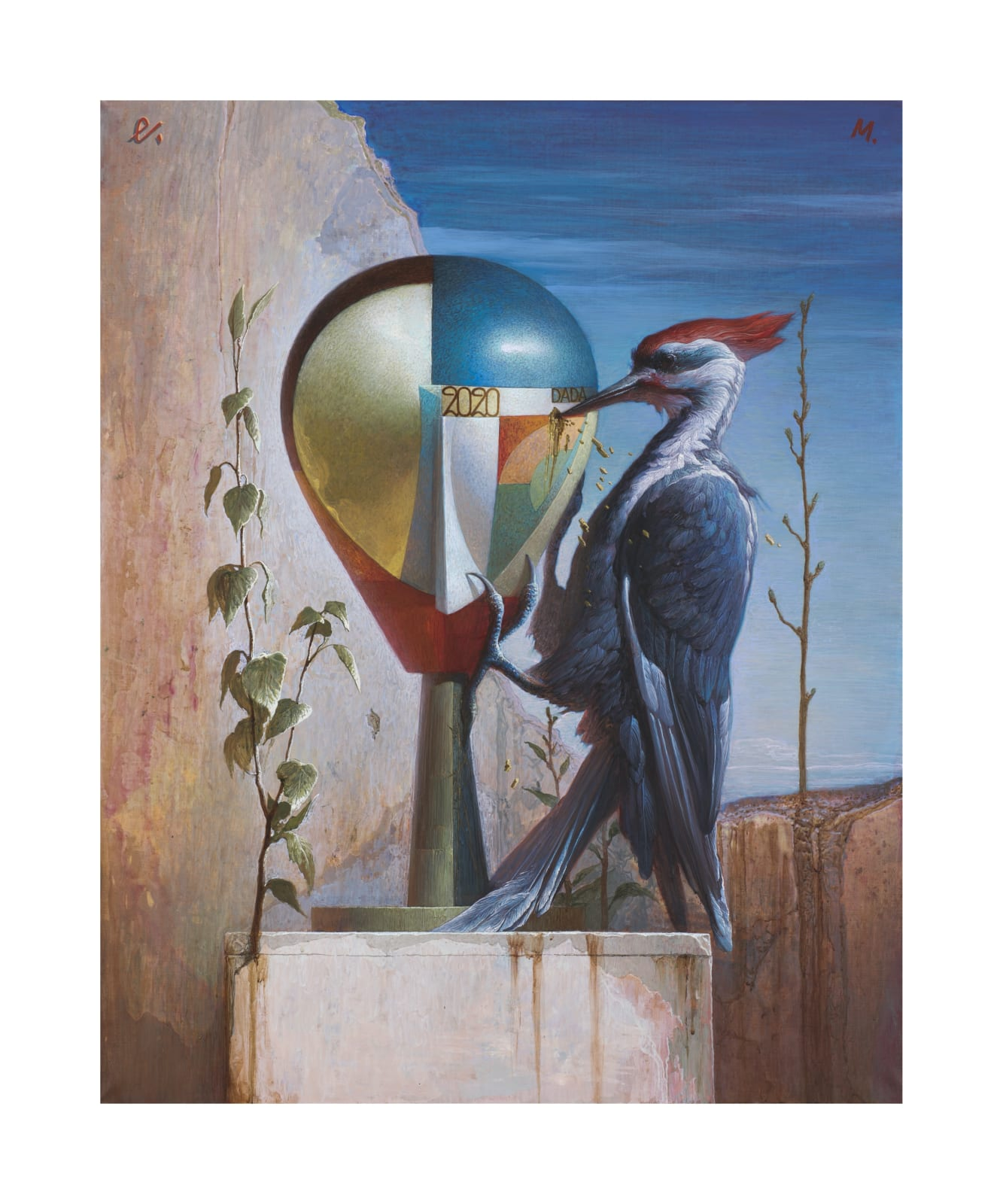 Егор Кошелев | Egor Koshelev Дадаистская голова | Dada Head, 2020 Холст, масло | oil on canvas 100 х 80 см