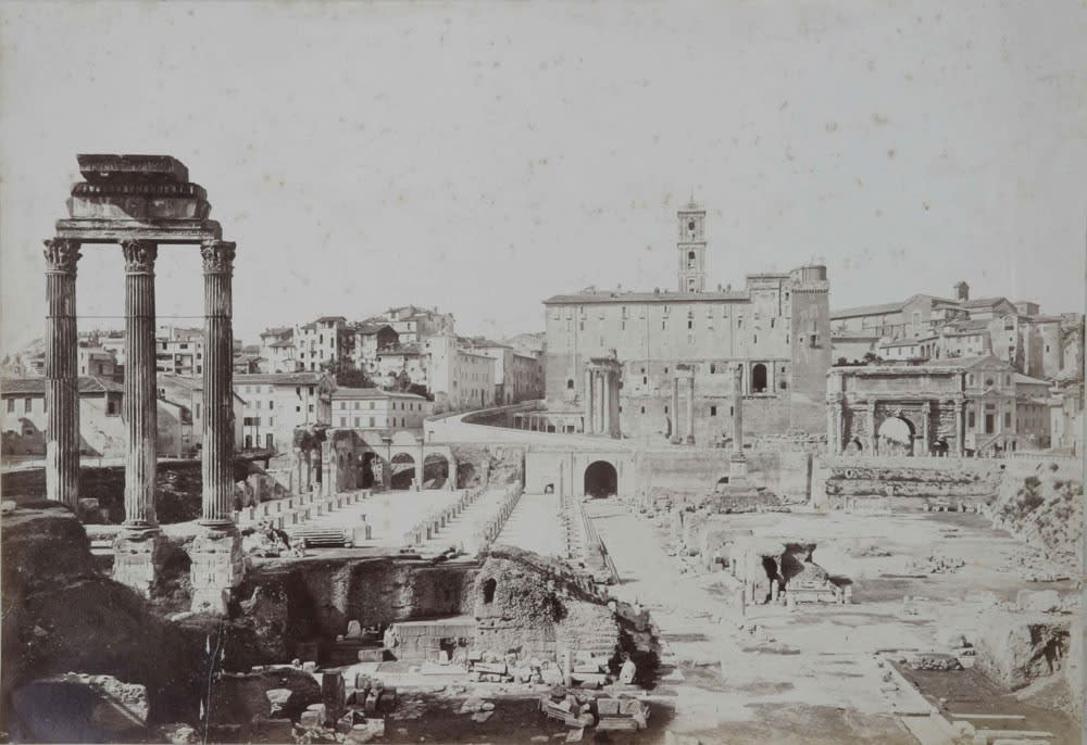Rome seen by painters - photographers of the second half of the 19th century