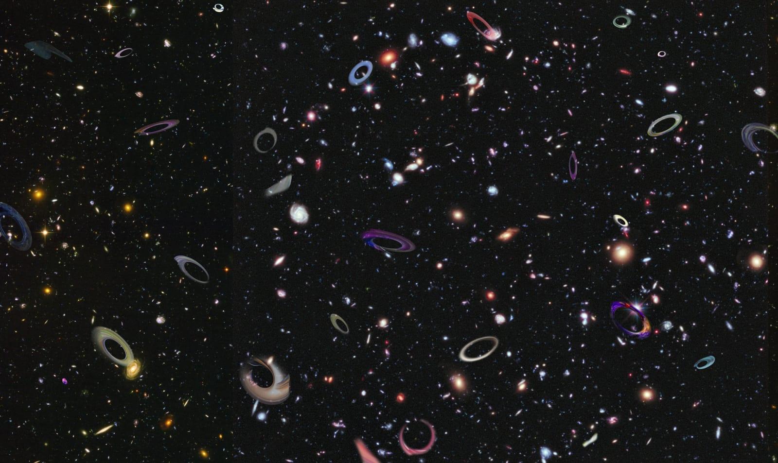 Pamela Davis Kivelson, Spiraling Black Holes, 2021