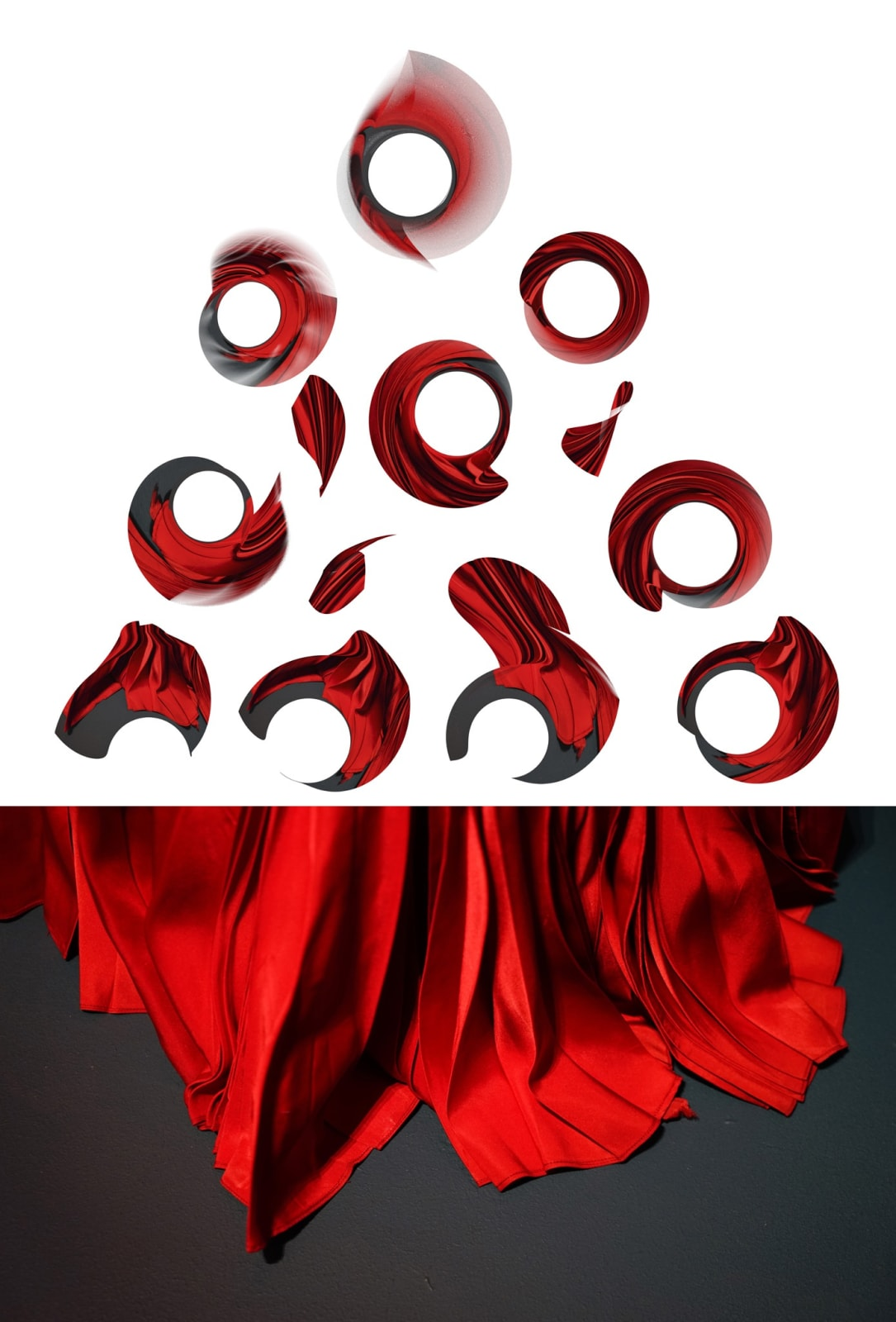 Pamela Davis Kivelson, Flowing Red, 2021