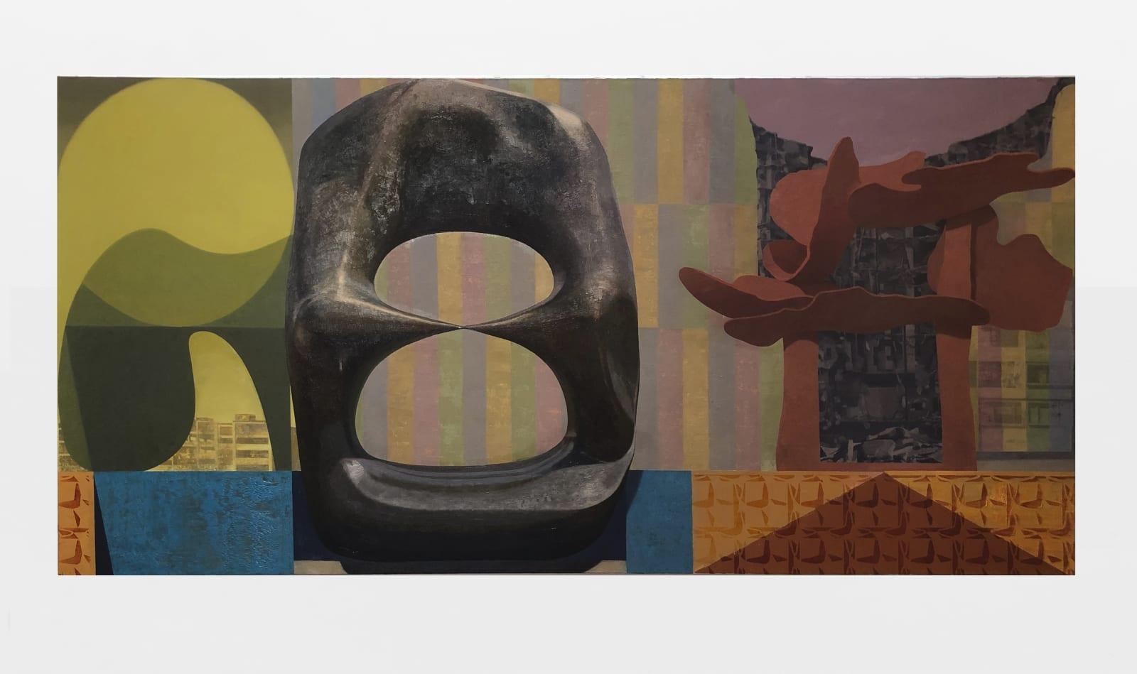 Daniel Dove Sculpture Park, 2020 Oil on canvas 44 x 96 in 111.8 x 243.8 cm