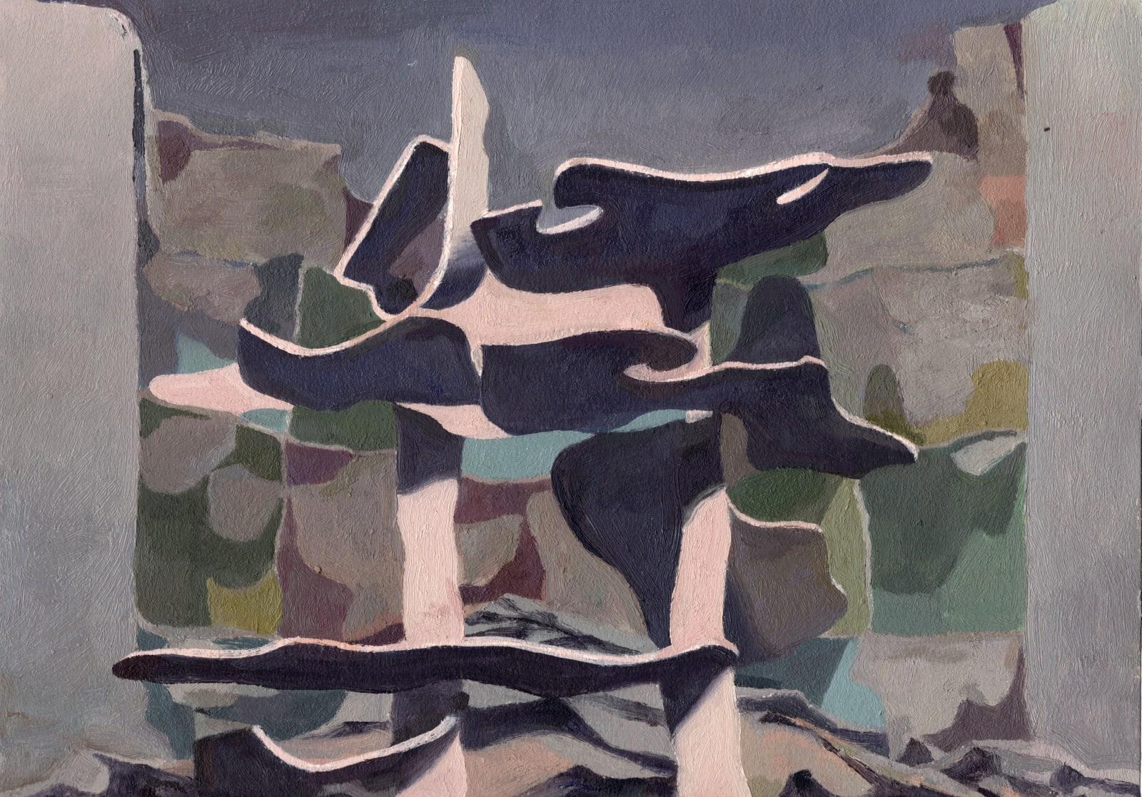 Daniel Dove Puzzler (study), 2019 Oil on paper, unframed 12 1/4 x 16 1/8 in 31.1 x 41 cm