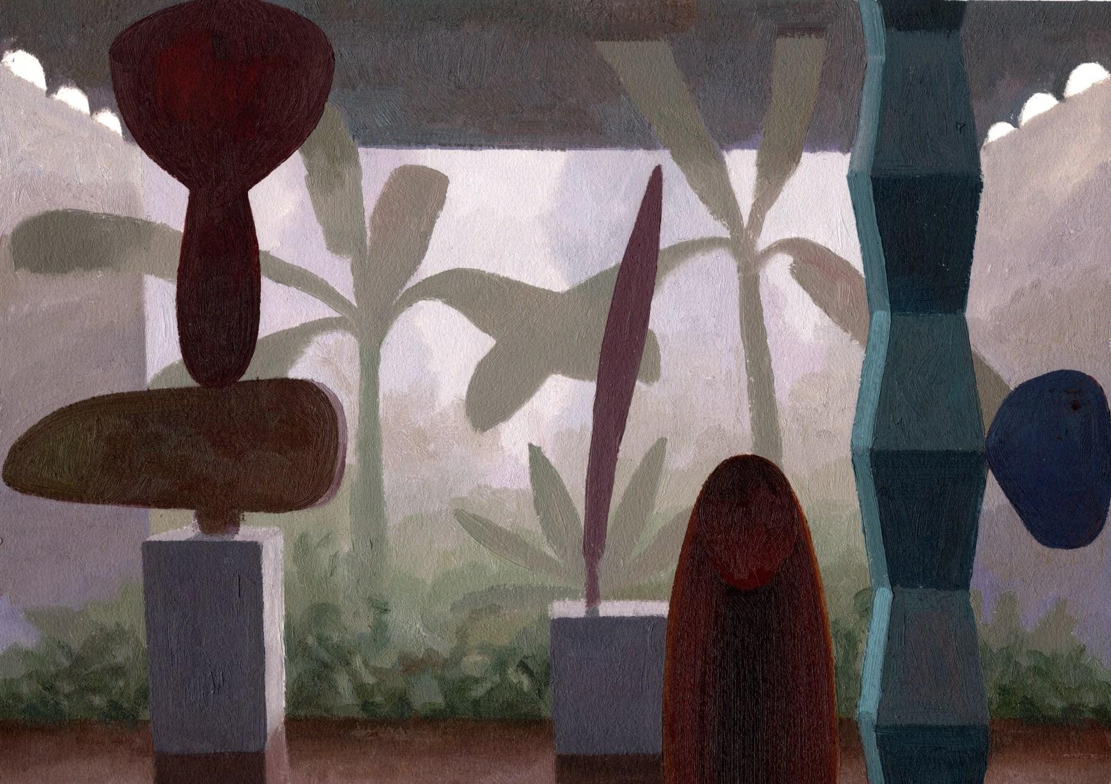 Daniel Dove Atrium #4 (Study), 2020 Oil on paper, unframed 12 1/4 x 16 1/8 in 31.1 x 41 cm