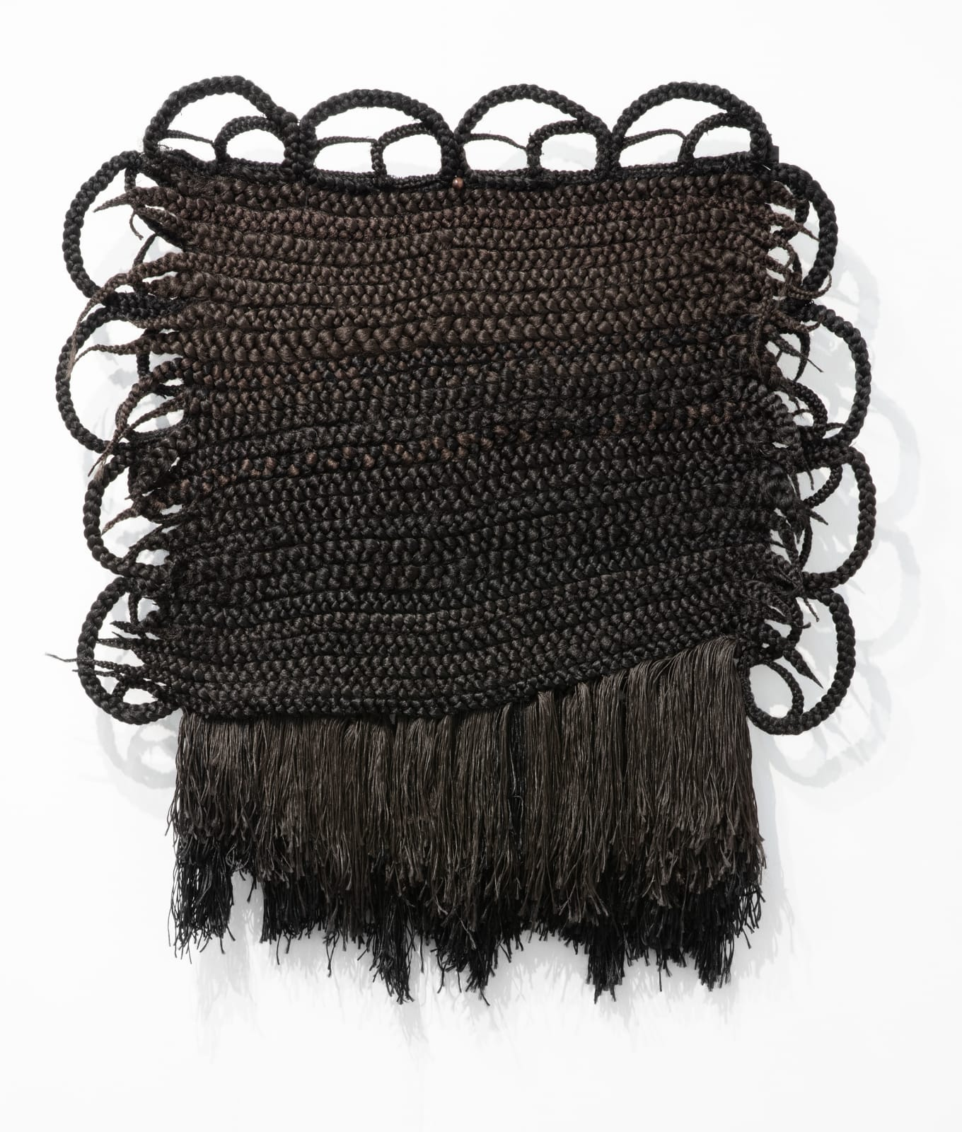 Joanne Petit-Frère Tapestry of Braids #1 (Woven while Discovering bell hooks on YouTube), 2020