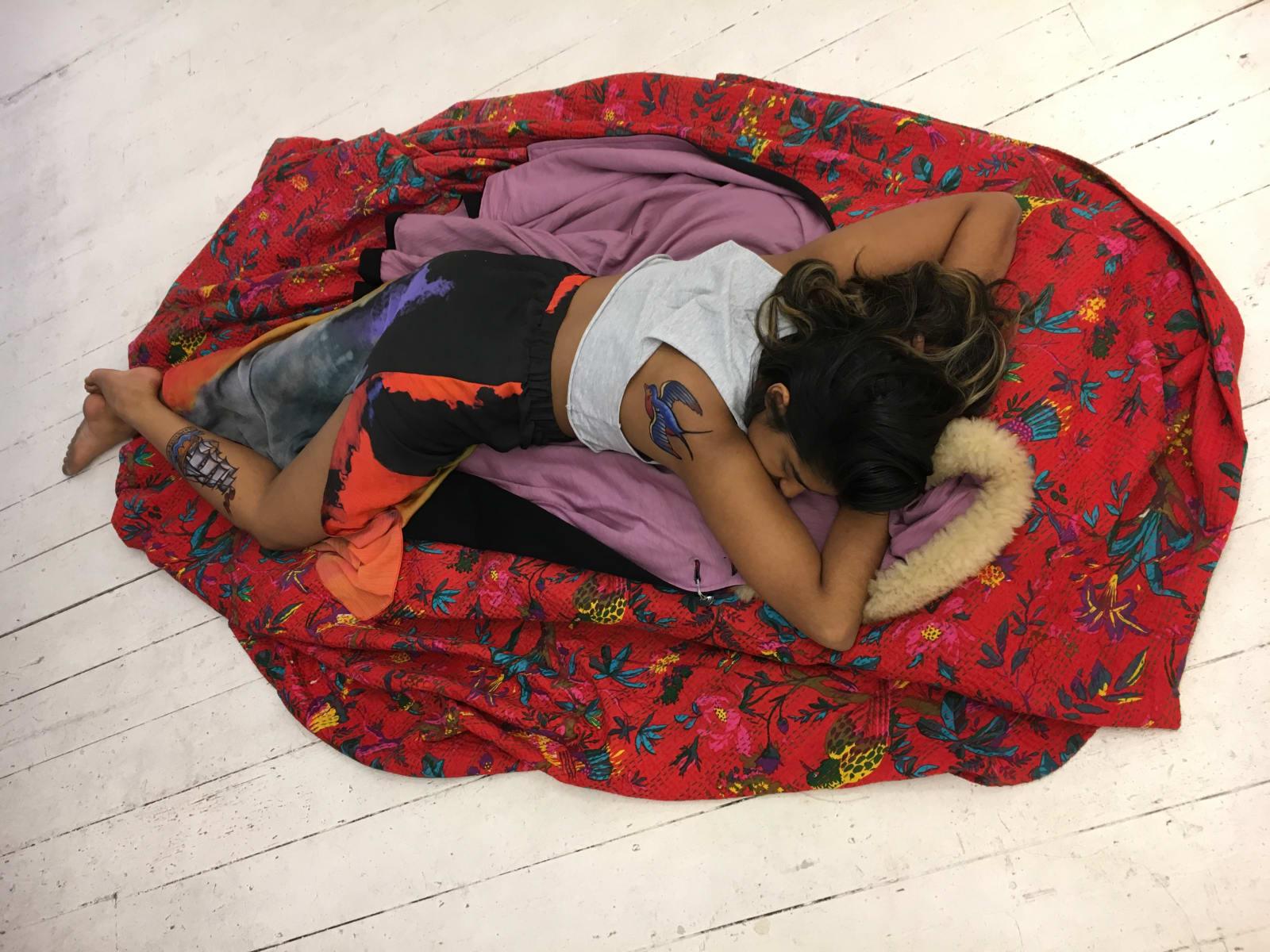 Michelle Williams Gemaker, 2017, Violet culbo, stowaway. Performed by Ananya Jaidew, make-up Helena Jopling