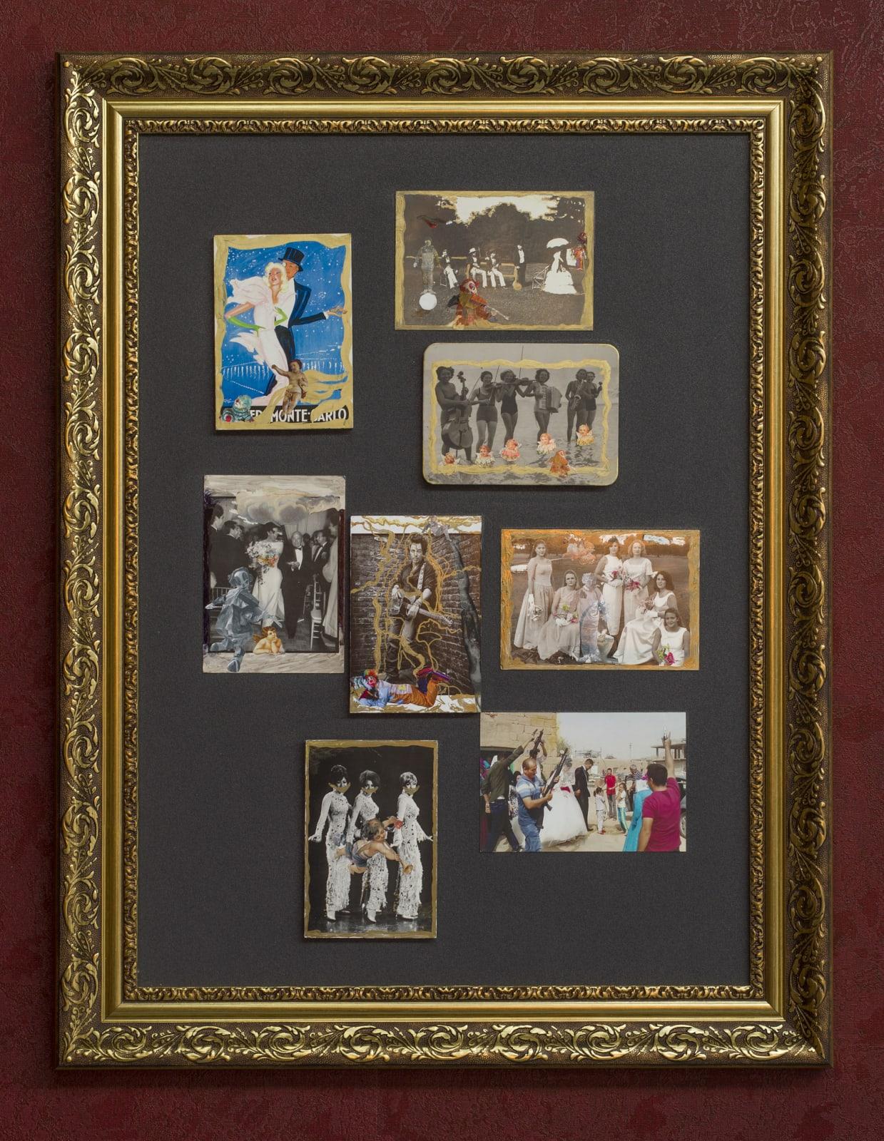 Wedding 2020 postcards and mixed media 78 x 60 cm