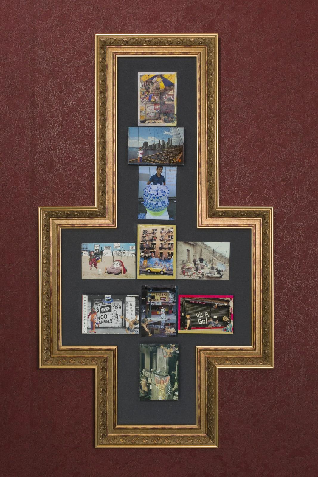 Street 2020 postcard and mixed media 112 x 63 cm