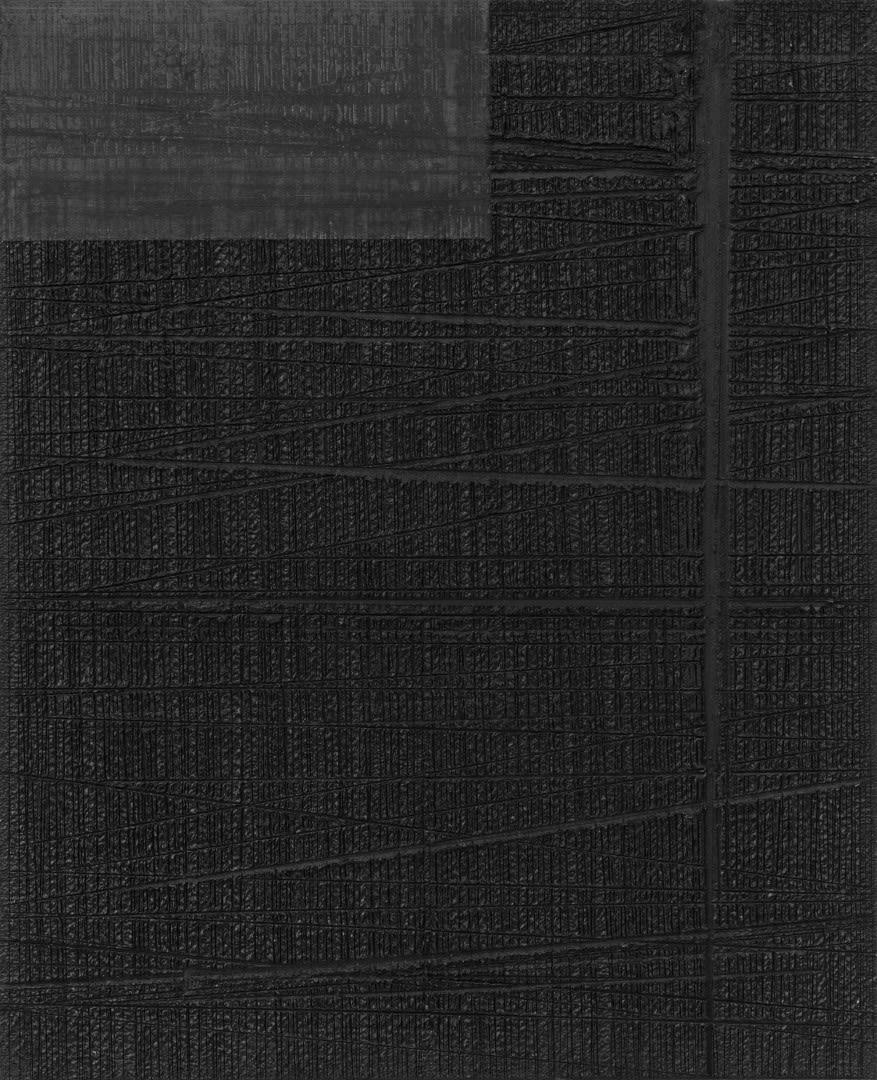 Untitled 2018 Graphite on canvas 80 x 65 cm