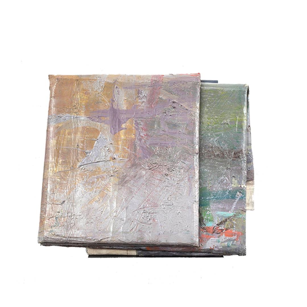 Topology 1989-2018 Oil on cotton 40 x 48 x 8 cm